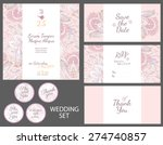 invitation wedding card with... | Shutterstock .eps vector #274740857