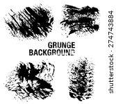grunge elements   illustration   Shutterstock .eps vector #274743884