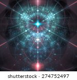 Abstract Fractal Star Tower...