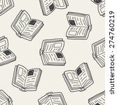 doodle book seamless pattern... | Shutterstock .eps vector #274760219