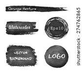 set of grunge watercolor hand...   Shutterstock .eps vector #274762865