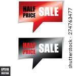 half price sale speech square... | Shutterstock .eps vector #274763477