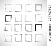 hand drawn scribble squares ...   Shutterstock .eps vector #274767914