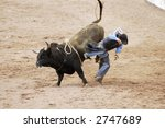 the bull riding event at a... | Shutterstock . vector #2747689