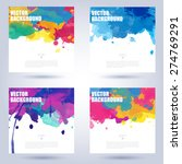 set of colorful poster... | Shutterstock .eps vector #274769291
