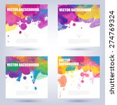 set of colorful poster... | Shutterstock .eps vector #274769324