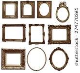 antique wooden frame on white... | Shutterstock . vector #274770365