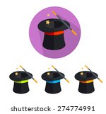 vector illustration magic hat... | Shutterstock .eps vector #274774991