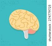 brain design on blue background ... | Shutterstock .eps vector #274779725
