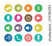 audio icons universal set for... | Shutterstock .eps vector #274781591
