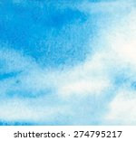 watercolor blue hand drawn... | Shutterstock .eps vector #274795217