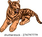 tiger  illustrator | Shutterstock .eps vector #274797779