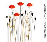 floral background  poppy with a ... | Shutterstock .eps vector #274798109