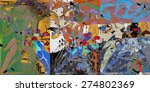 abstract art collage  mixed... | Shutterstock . vector #274802369