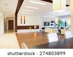 Small photo of Modern parter house with open space