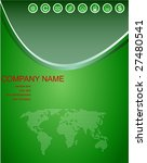 green web background with copy... | Shutterstock .eps vector #27480541