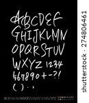 handwritten alphabet   vector   ... | Shutterstock .eps vector #274806461
