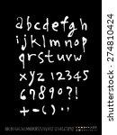 handwritten alphabet   alphabet ...   Shutterstock .eps vector #274810424