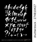 handwritten alphabet   alphabet ...   Shutterstock .eps vector #274810427