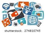 media social media social...   Shutterstock . vector #274810745
