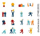 competition icons flat set with ... | Shutterstock .eps vector #274813031