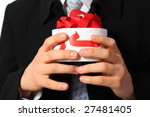 businessman with gift box in...   Shutterstock . vector #27481405