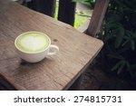 green tea and milk | Shutterstock . vector #274815731