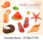 set  summer  summer vacation ... | Shutterstock .eps vector #274817795