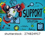 support solution advice help... | Shutterstock . vector #274824917