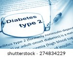 paper with words diabetes type... | Shutterstock . vector #274834229