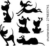 funny dog silhouette   vector...   Shutterstock .eps vector #274835741