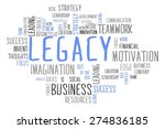 legacy word cloud business... | Shutterstock . vector #274836185