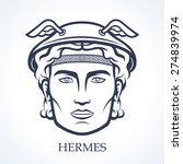 hermes  ancient greek god of... | Shutterstock .eps vector #274839974