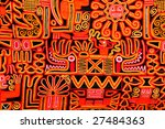 beautiful blanket with a... | Shutterstock . vector #27484363