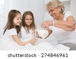 beautiful grandmother with... | Shutterstock . vector #274846961