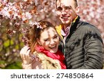dating. young woman and man... | Shutterstock . vector #274850864