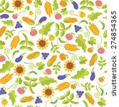 vegetables bright seamless... | Shutterstock .eps vector #274854365