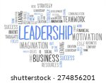 leadership word cloud business... | Shutterstock . vector #274856201