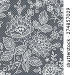 lace bouquet seamless | Shutterstock .eps vector #274857029