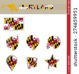 maryland flag set  us state ... | Shutterstock .eps vector #274859951