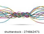 braid of colorful lines  eps10... | Shutterstock .eps vector #274862471