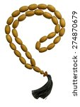 Wooden Rosary Beads  Isolated...
