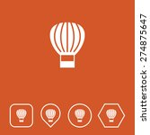 parachute icon on flat ui...