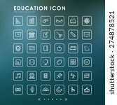 education outline icons with... | Shutterstock .eps vector #274878521