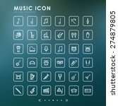 music line icons with blur... | Shutterstock .eps vector #274879805