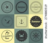 collection of design elements.... | Shutterstock .eps vector #274880519
