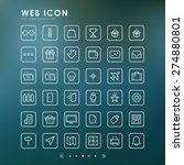 36 web minimal outline icons... | Shutterstock .eps vector #274880801