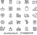 shopping outlined icon set | Shutterstock .eps vector #274880939