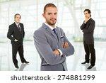 three business men portrait at... | Shutterstock . vector #274881299