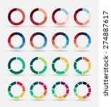 segmented and multicolored pie... | Shutterstock .eps vector #274887617